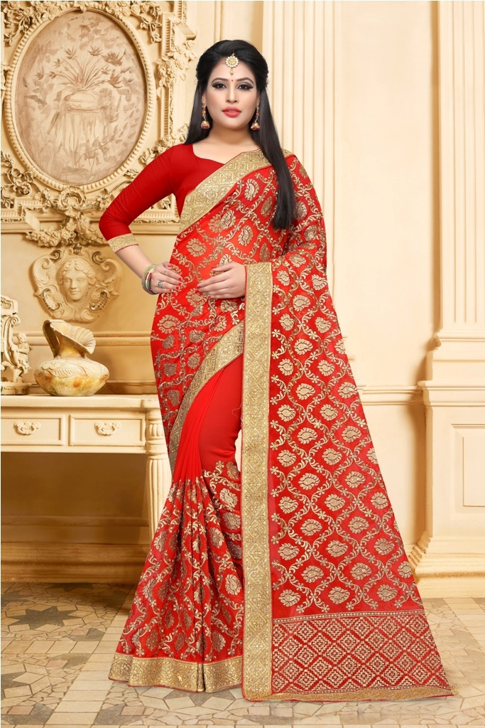 Adorn The Pretty Angelic Look Wearing This Designer Saree