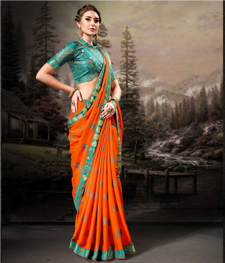 Shine Bright In This Very Pretty Designer Saree