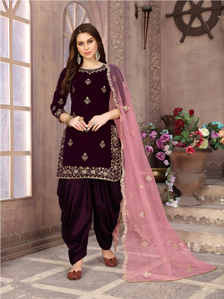 Get Ready For The Upcoming Festive And Wedding Season With This Designer Patiala Suit