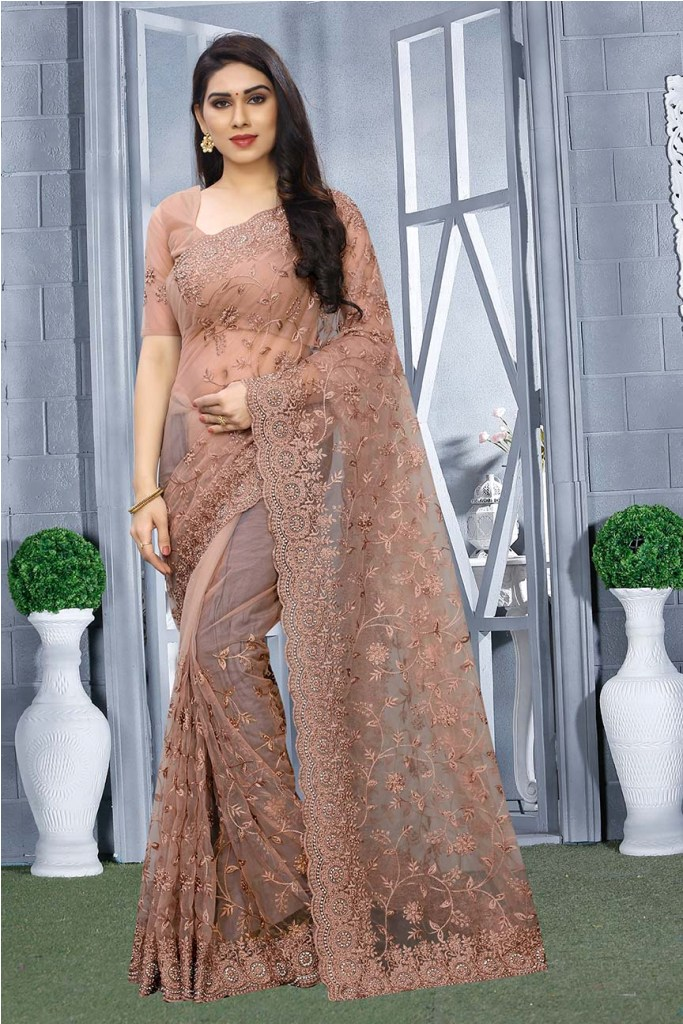 For A Bold And Beautiful Look, Grab This Heavy Designer Tone To Tone Embroidered Saree