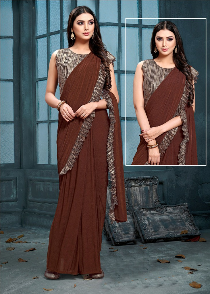 Look Pretty This Ready To Wear Design Designer Saree